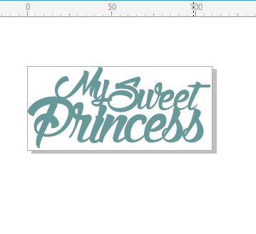 My sweet princess 110 x 50. min buy 3